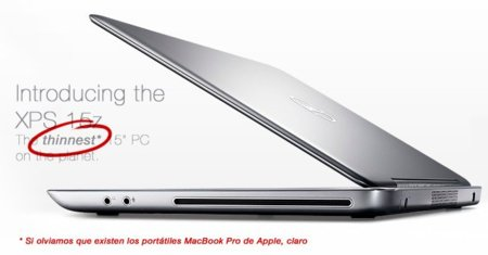 Dell XPS-15, el portátil más delgado del mundo... si excluimos los portátiles de Apple