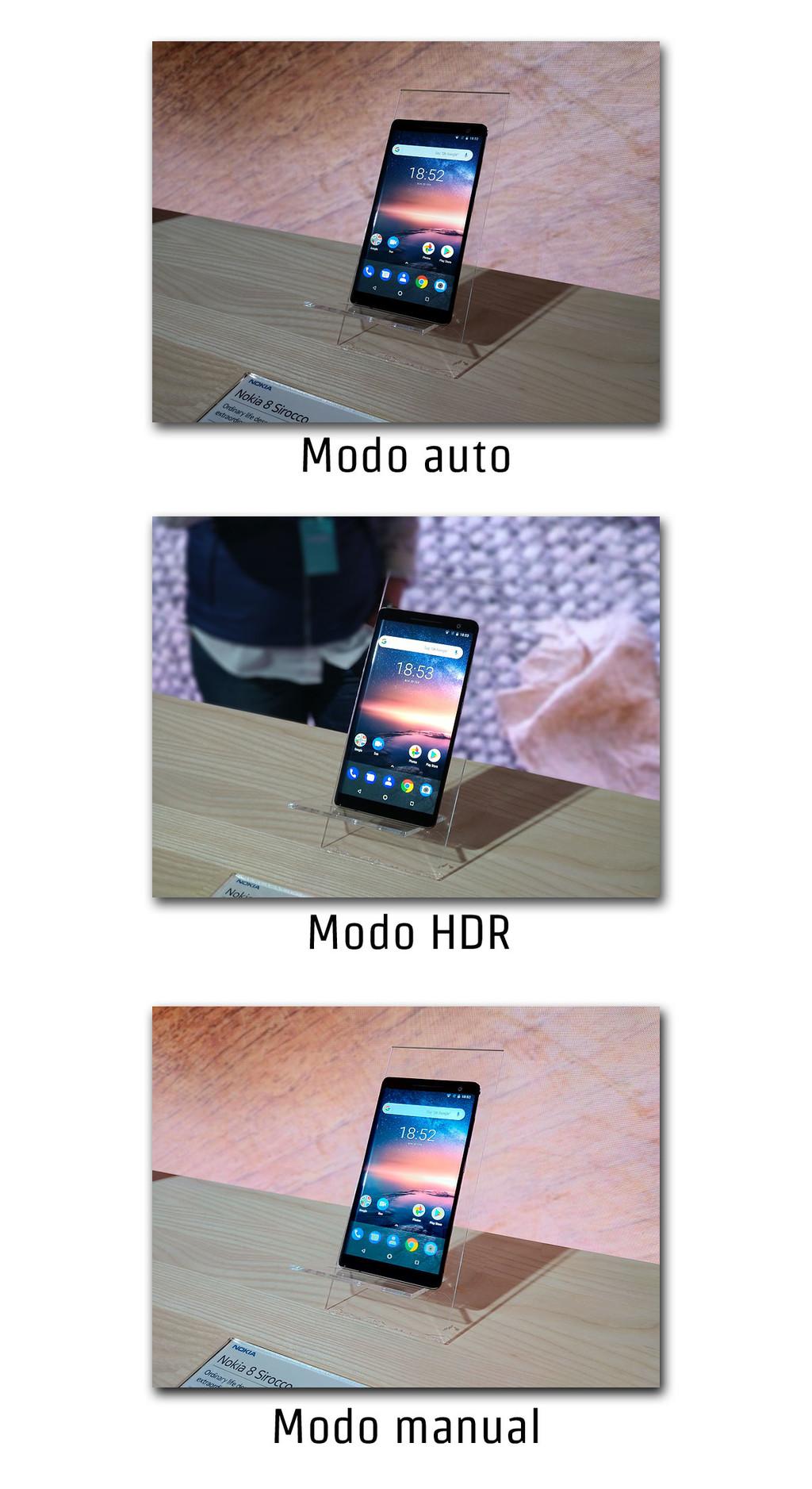 Nokia 8 Sirocco Modos