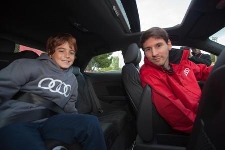 Leo Messi clase educación vial