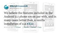 Sony Ericsson confirma que Froyo y Gingerbread no llegarán a la familia Xperia X10