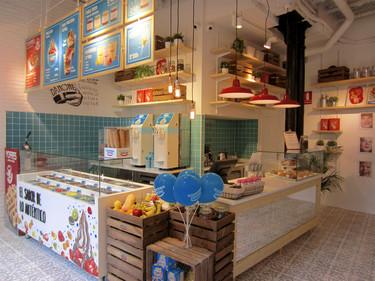 Espacios para trabajar: Yogurtería Danone