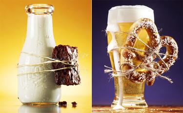 Fotografías de maridaje de alimentos, llevando el concepto hasta lo más literal