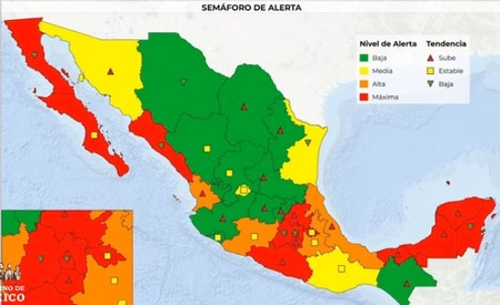 """México transitará a la """"nueva normalidad"""" post Covid-19 con un semáforo por estado: así funciona"""