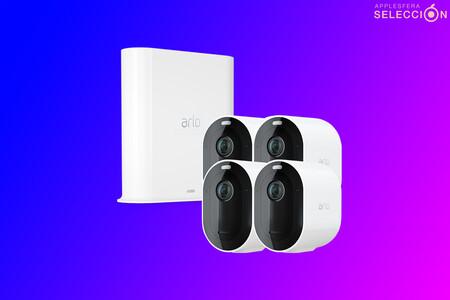 Completa seguridad en vídeo con el pack de cuatro cámaras Arlo Pro 3 compatibles con HomeKit en Amazon por 260 euros menos