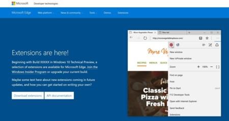 Microsoft revela por error las extensiones de su navegador Edge