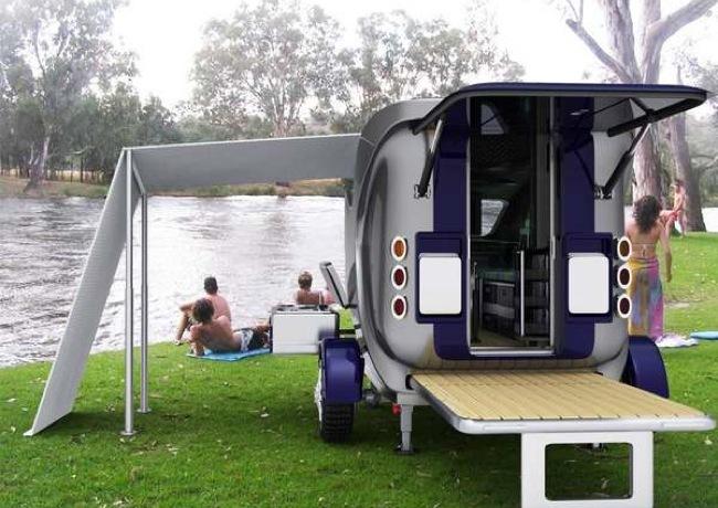 Foto de Habitaciones compactas para llevar como remolque al campo (3/5)