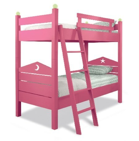 Una buena idea: camas pintadas de colores alegres