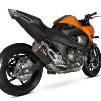 Más potencia y menos peso para Kawasaki Z800e, con los nuevos escapes Scorpion Serket