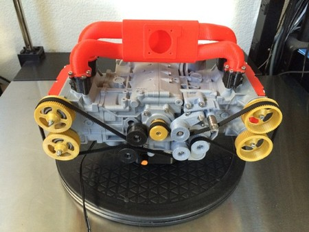 Si tienes una impresora 3D y un manual de instrucciones, tienes un motor Bóxer Subaru EJ20