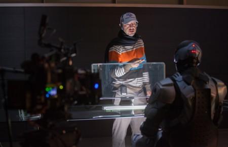 Jose Padilha en el rodaje de Robocop