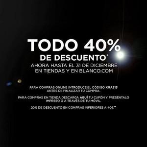 Blanco, en vísperas del 2014, repite promoción ¡Un 40 % de descuento!