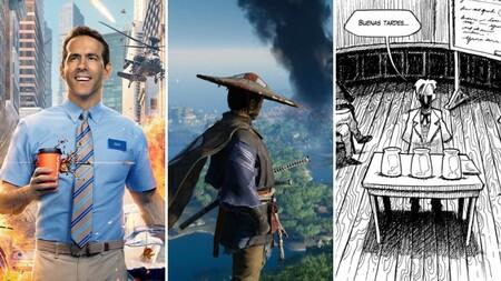 13 estrenos y lanzamientos imprescindibles para el fin de semana: 'Free Guy', 'Ghost of Tsushima Director's Cut', lovecraft y mucho más