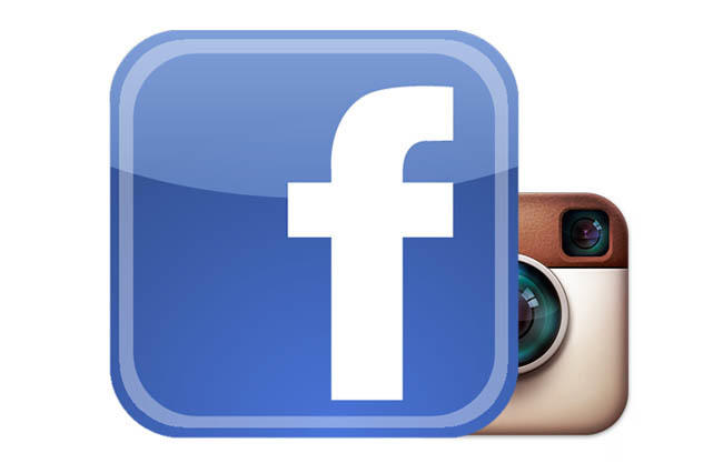 Logotipos de Facebook e Instagram