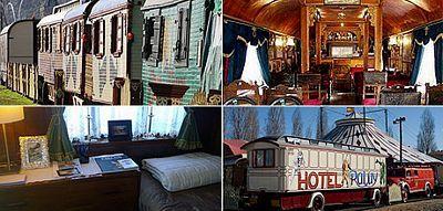 Alojarse en una caravana del circo