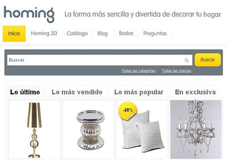 Homing, una nueva tienda virtual