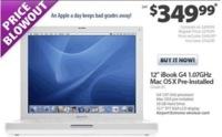 iBook de 12 pulgadas, nuevo por 350 dólares