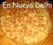 La tradicional tortilla española en Nueva Delhi.