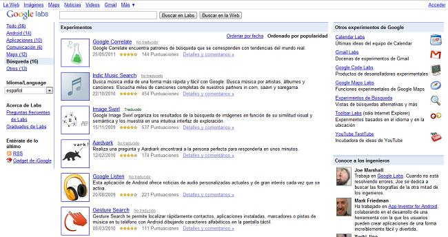 Cierre Google Labs