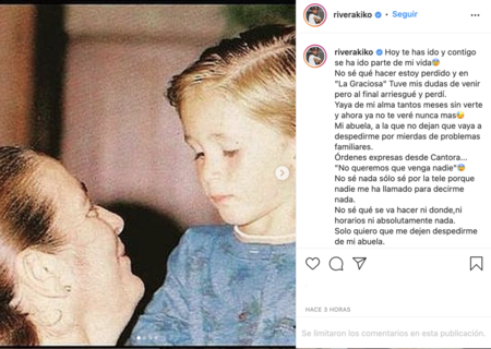 Carta de despedida de Kiko Rivera a su abuela Ana Martín Instagram
