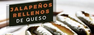 Jalapeños rellenos de queso. Receta de botana en video