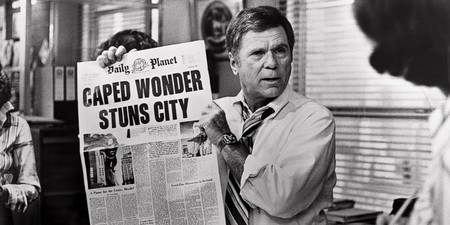 Superman The Movie Newspaper Caped Wonder