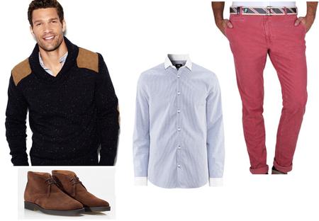 Jersey: Blanco - Camisa: H&M - Pantalones: Scalpers - Zapatos: Massimo Dutti