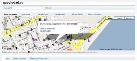 Queciudad.es, buscador de lugares de interés por próximidad