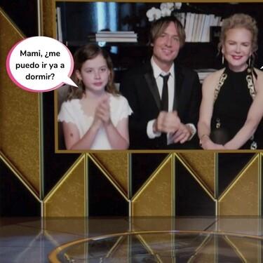 ¡Foto de familia (Addams)! Las hijas de Nicole Kidman, protagonistas de los Globos de Oro por esta curiosa imagen