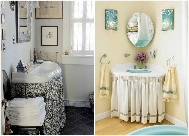 Faldas para un lavabo de l neas rectas - Como cambiar un lavabo ...