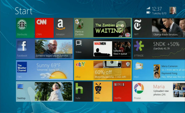 Windows 8 mockup