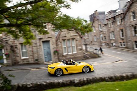 Porsche 718 Spyder en marcha