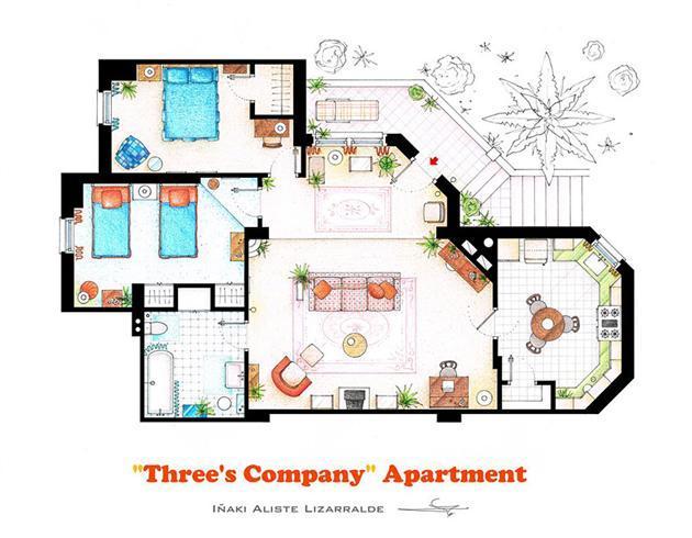 Foto de Planos de apartamentos de series de TV (1/17)