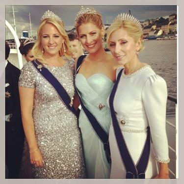 Las princesas no se resisten a retratarse en Instagram en la boda de Magdalena de Suecia