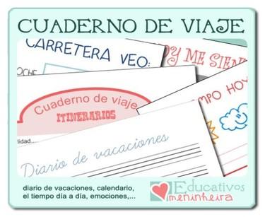 """""""Cuaderno de viajes"""" para niños de Educativos Meninheira"""