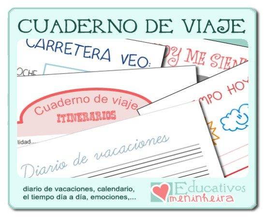 """Libreta De Dibujo Con Dibujos Infant: """"Cuaderno De Viajes"""" Para Niños De Educativos Meninheira"""