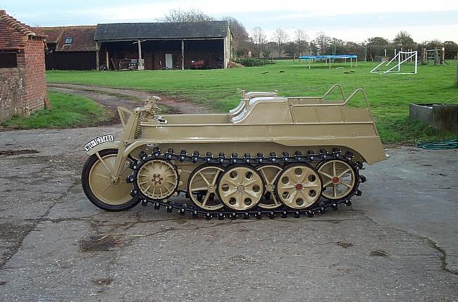 Esta es la Kettenkrad de 120.000 euros, la moto-tanque alemana restaurada de la Segunda Guerra Mundial