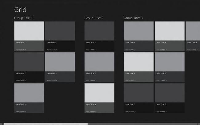 Aplicación Grid Windows 8