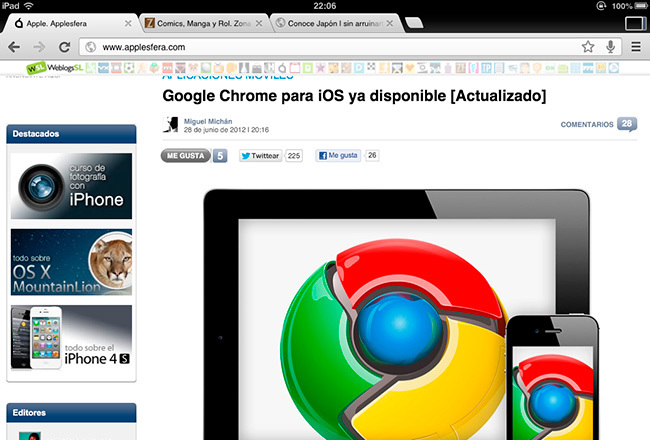 Google Chrome para iOS