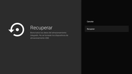 Borrar Android Tv