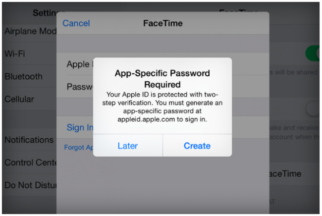Facetime Imessage 2 Step Verification