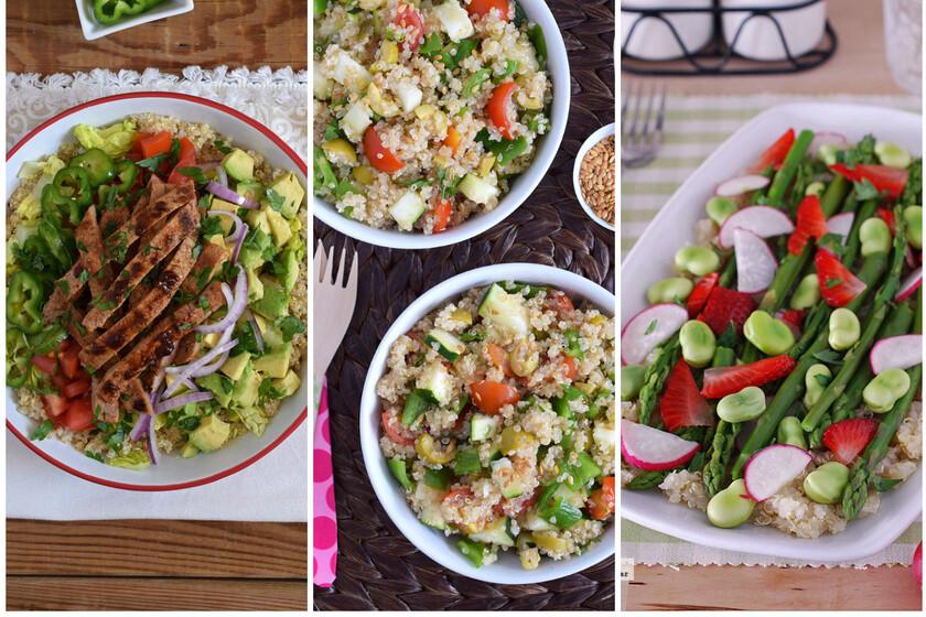 Once ensaladas con quinoa para una comida ligera y saludable, pero saciante