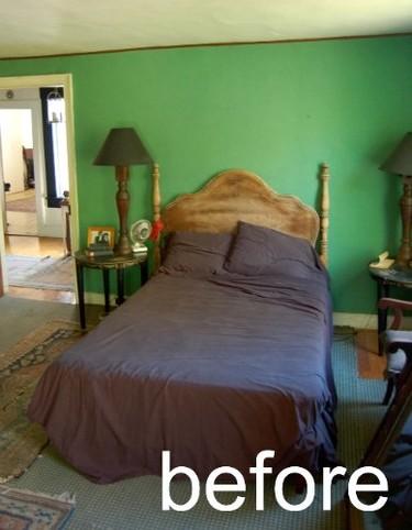 Antes y después: un dormitorio con aires rústicos chic
