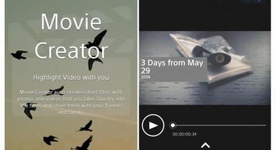 Sony Movie Creator, una nueva app para los usuarios de Xperia Z2