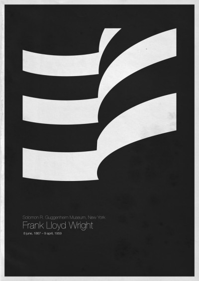Foto de Six Architects, pósters minimalistas de grandes arquitectos (3/6)