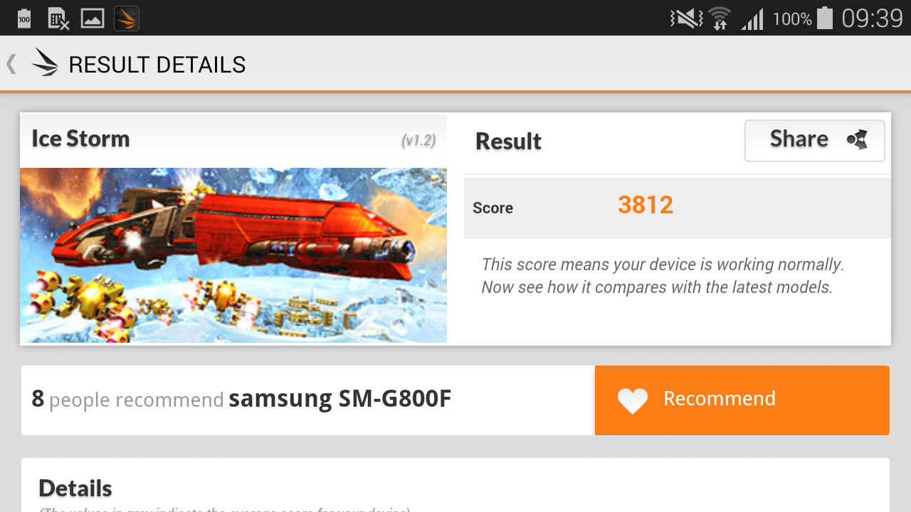 Samsung Galaxy S5 mini, rendimiento