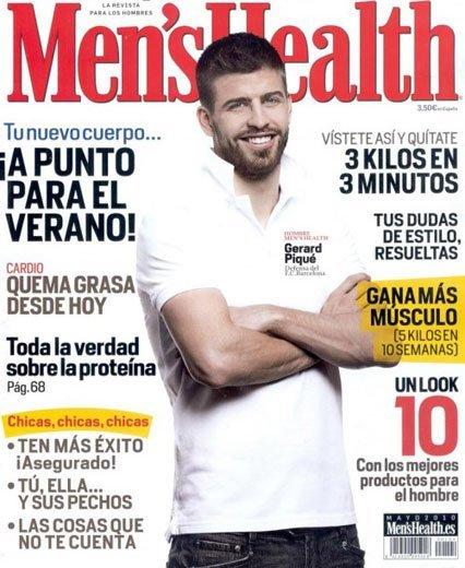 Gerard Pique tremendo en la revista Men's Health