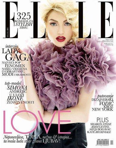 Simona Andrejic en la portada de Elle Serbia