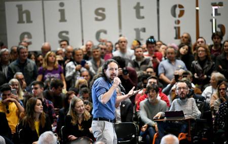 Pablo Iglesias Participa En Un Encuentro Con La Militancia En El Auditorio De Zaragoza Foto Dani Gago 700x441