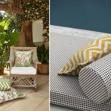 Dale un aire parisino a tu terraza o jardín con esta colección de cojines de Lizzo