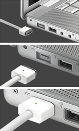 Nueva placa base en MacBook y adaptador MagSafe en MacBook Pro